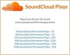 Buy SoundCloud Plays – $3 For 5000 Permanent Plays  #SoundCloudMarketing #MusicMarketing