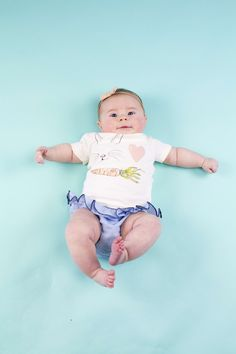 0cbdd4ef Babies in this tee melts our hearts! Ruffle Diaper Covers, Short Sleeve Tee,