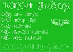Workout Challenge: 85 Arm Circles, 30 Tricep Dips, 25 Pushups, 15 Diamond Pushups, 15 Wide Pushups.  Let's Work Those Arms Today!