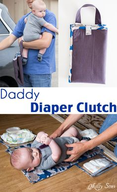 Diaper clutch tutorial - Make a diaper changing mat for the essentials with this tutorial - Melly Sews