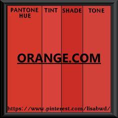 PANTONE SEASONAL COLOR SWATCH ORANGE.COM