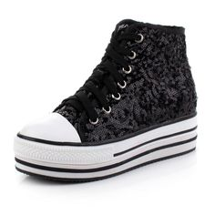 platform converse Converse Chuck Taylor High, Converse High, High Top Sneakers, Platform Converse, Chuck Taylors High Top, Emo, High Tops, My Style, Shoes