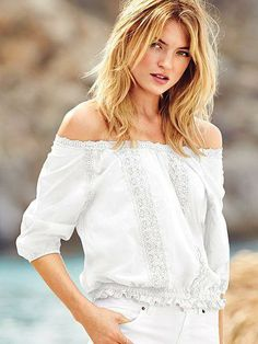 Boho-chic for Bonnaroo. It's almost lyrical, right? // Victoria's Secret Crochet Blouse
