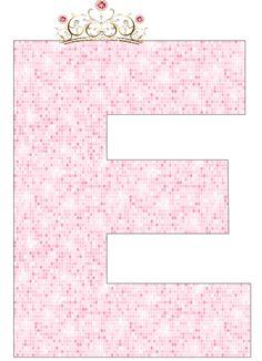 EUGENIA - KATIA ARTES - BLOG DE LETRAS PERSONALIZADAS E ALGUMAS COISINHAS: Coroa Princesa Alfabeto e Números