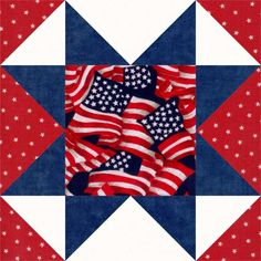 This easy to sew kit includes enough pre-cut fabric pieces for 12 blocks. This is a nice Americana patriotic quilt kit, perfect for holidays, Independence Day, 4th of July and Veterans Day. Make a nic