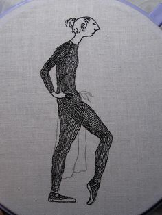 Edward Gorey embroidery.  Love it.
