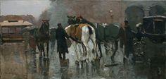 Dutch Painters.......Willem de Zwart - Rest for the horses -The Hague - c. 1890