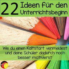 Du möchtest den Beginn des Unterrichts etwas aufpeppen? Dann versuch es mit diesen 22 Ideen und motiviere deine Schüler von Anfang an.