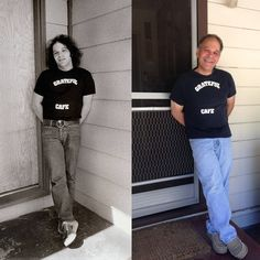 On his way to a Grateful Dead concert, 35 years apart.