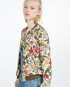 Image 4 of FLORAL PRINT BOMBER JACKET from Zara