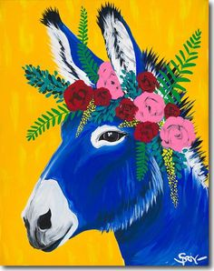 Image result for anthropologie mexican donkey painting