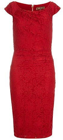 Womens scarlet bodycon dress from Dorothy Perkins - £55 at ClothingByColour.com