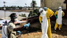 Watsan Team disinfects Freetown Houses