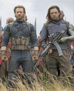 This is incredible! I LOVE that Bucky's battle gear is in the style of his WWII coat and gear!! STOKED.
