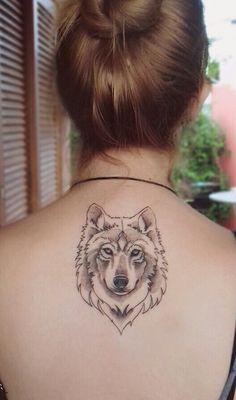 My new wolf tattoo , loving it !