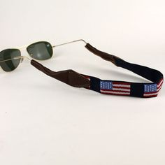 If Old Glory ever looked so good, we don't know when. Show off your American pride, while looking incredibly preppy.  This everyday staple piece from 39th Parallel is the ideal accessory for all patriots who prefer not to spend their days squinting in the sun. #Preppy #Sunglasses