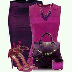 Conjunto morado/rosa