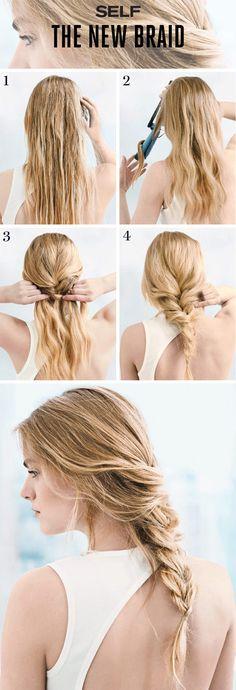 Beautifully undone braid how-to.