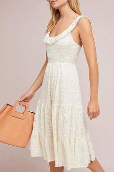 Maeve Belle Tiered Midi Dress