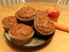 Banana, Carrot, Apple, Oat Bran Muffins - made these and subbed peaches for apples and added raisins. They were awesome!