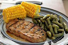 Best Grilled Pork Chops - a very easy marinade recipe that is so delicious! perfect for summer! Made this a second time loved it again, def a bbq staple Pork Rib Recipes, Grilling Recipes, Cooking Recipes, Grilling Ideas, Best Grilled Pork Chops, Grilled Meat, Bbq Pork Ribs, Pork Dishes, Favorite Recipes