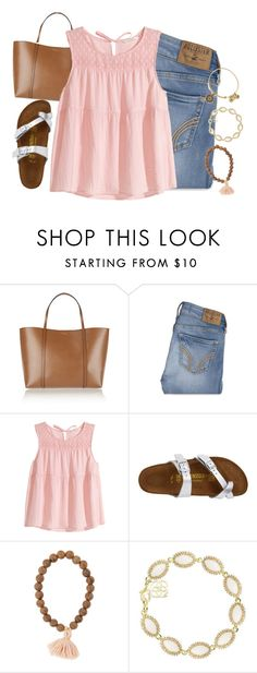 """dainty af"" by brooklm ❤ liked on Polyvore featuring Dolce&Gabbana, Hollister Co., H&M, Birkenstock, Kendra Scott, Alex and Ani, women's clothing, women's fashion, women and female"