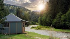 What happens when you combine the shape and size of a yurt home with the durability and sturdiness of a cabin? You get these innovative Freedom Yurt-Cabins. Tiny House Village, Tiny House Blog, Tiny Houses For Sale, Tiny House Living, Tiny House Plans, Yurt Kits, Cabin Kits, Cabin Ideas, House Ideas