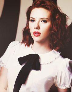 Redhead Scarlett johansson