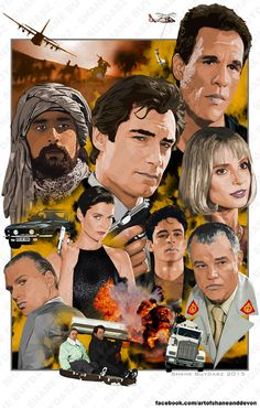 """TImothy+Dalton's+James+Bond,+featuring+all+of+his+films+in+the+Bond+franchise.+    This+is+an+11""""x17""""+print+signed+by+the+artist.+Art+done+in+photoshop.+Actual+print+will+not+have+watermark."""