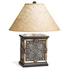 Silver concho lamp from King Ranch