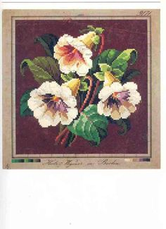 A Floral Berlin WoolWork Pattern Produced By Hertz Wegener In Berlin
