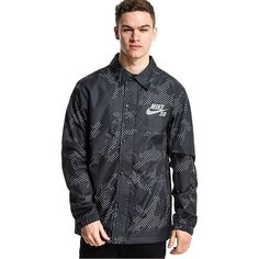 Nike SB Assistant Coach Jacket (19970 ALL) ❤ liked on Polyvore featuring mens, men's clothing, men's activewear, men's activewear jackets and black