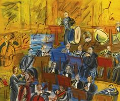 'L'Orchestre' (1942) by French artist Raoul Dufy (1877-1953). Oil on canvas, 46 x 55 cm. via Lawrence Lee Magnuson