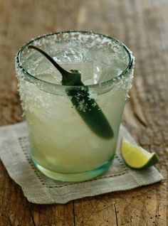 CHILE-SPIKED MARGARITA ...hoooooot! #cocktailrecipe