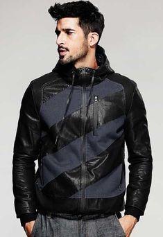65cd84f15c Streetwear style outfit for men   GOOFASH MAGZN Black Hooded Sweatshirt,  Black Hoodie, Mens