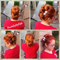 Flower bun Mohawk
