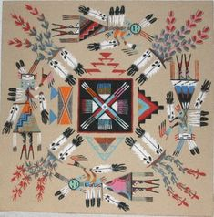 Unbelievable Art........Paintings, Graphics, Sculpture and Craft: Floor Paintings-Native American Sand Painting