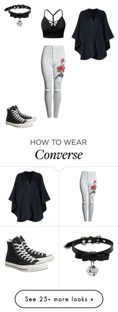"""For RP"" by thelittlefanthatcould on Polyvore featuring J.TOMSON, Sofiacashmere and Converse"