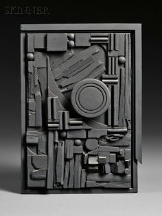 Louise Nevelson, City-Sunscape, 1979, edition of 150, Polyester resin multiple painted black.