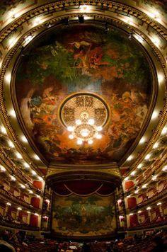 Interior do Teatro da Paz - Belém do Pará, Brasil.