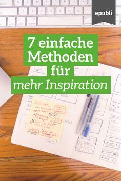 Euch fehlt die Inspiration zum Schreiben? Probiert doch mal eine unserer vorgestellten Methoden aus: http://www.epubli.de/blog/inspiration-autoren #epubli #schreibtipps