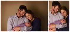 newborn photography | purple | parent pose | jessica barrett photography