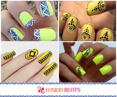Funky and gypsy, tribal nail art is trending these days. Get them now! #StyleTip #Truckart #FreeSpirit #SS15
