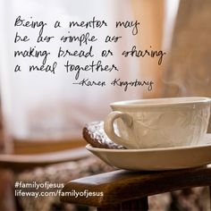 Being a mentor. -Karen Kingsbury, Family of Jesus Bible study Bible Verses Quotes, Sign Quotes, Book Quotes, Karen Kingsbury, Pastors Wife, New Bible, Jesus Bible, Jesus Lives, Book Launch