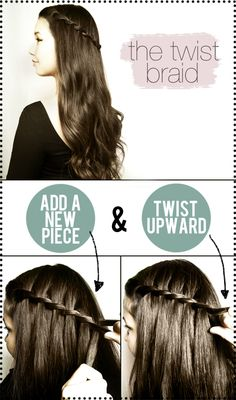 The Twist Braid Tutorial #hair #hairstyle #braid