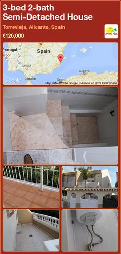 Semi-Detached House for Sale in Torrevieja, Alicante, Spain Semi Detached, Detached House, Portugal, Torrevieja, Alicante Spain, Murcia, New Builds, Property For Sale, Bath