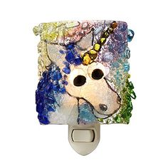 Look what I found at UncommonGoods: Recycled Glass Unicorn Nightlight for $38.00