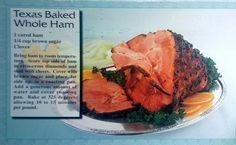 Texas Baked Whole Ham