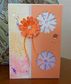 My Crafty Inspiration: Flower birhtday card
