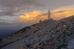 """Sam Azln posted a photo:  Mont Ventoux is a mountain in the Provence region of southern France.  At 1912 m, it is the highest mountain in the region and has been nicknamed the """"Giant of Provence"""".  It has gained fame through its inclusion in the Tour de France cycling race.  As the name might suggest (venteux means windy in french), it can get windy at the summit, especially with the mistral, wind speeds as high as 320 km/h (200mph) have been recorded.  The wind blows at 90 km/h (56 mph) 240…"""